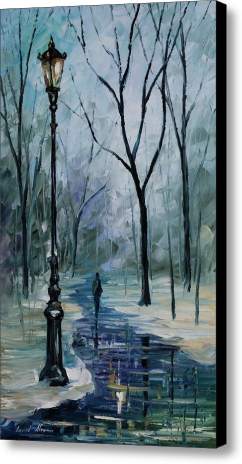 Leonid Afremov - Icy path - PALETTE KNIFE ... Print