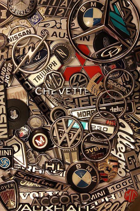 Adrian Wilkins - Car Badges Print