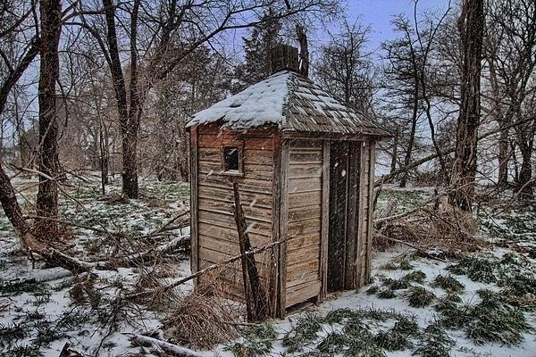 Chris Harris - Snowy Outhouse Print