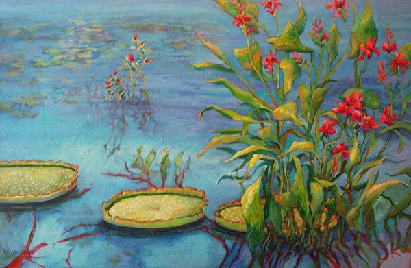 Sharon Nelson-Bianco - POND 23 Pond Series Print