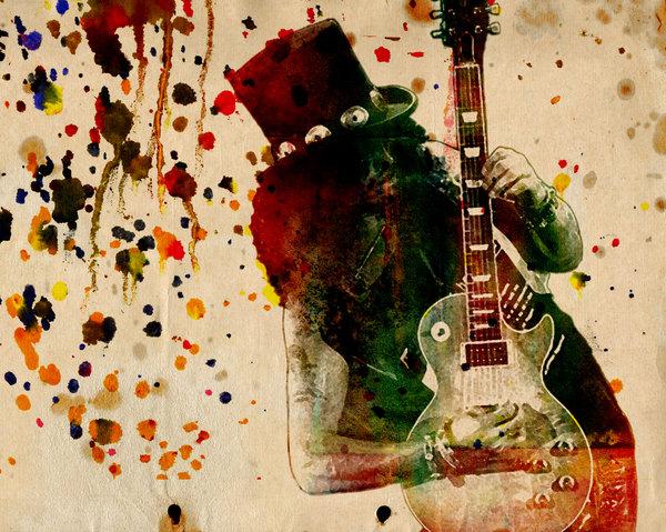Ryan RockChromatic - Slash - Watercolor Print ... Print