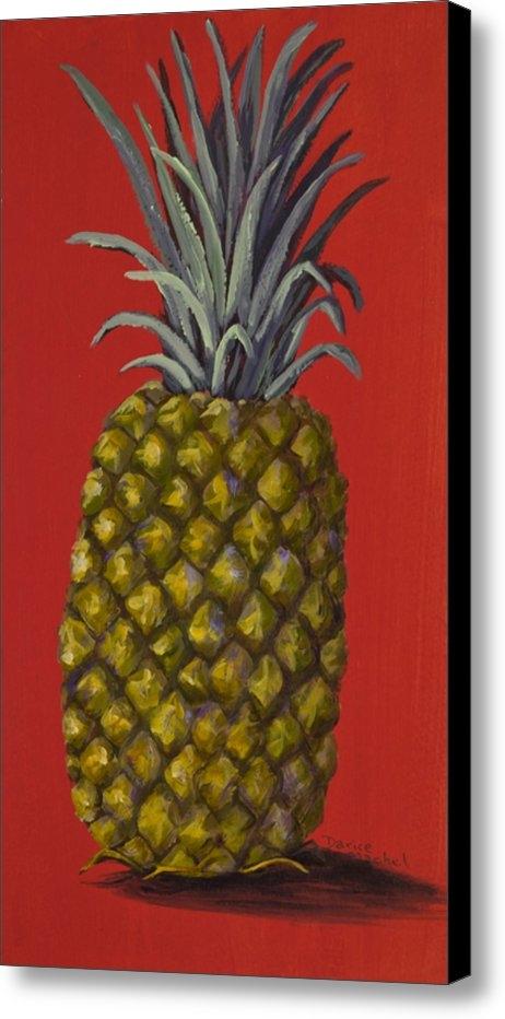 Darice Machel McGuire - Pineapple on Red Print
