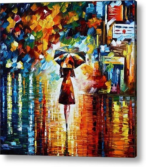 Leonid Afremov - Rain Princess - Palette K... Print