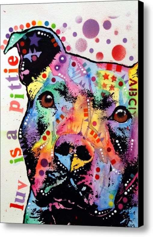 Dean Russo - Thoughtful Pitbull Luv Is... Print