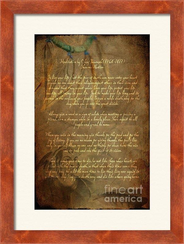 Wayne Moran - Chief Tecumseh Poem Print