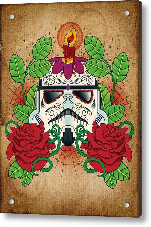 Samuel Whitton - Storm Trooper Sugar Skull Print