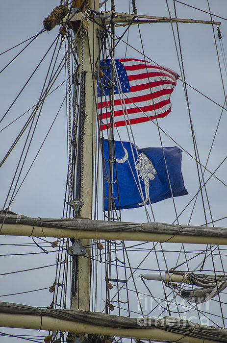 Dale Powell - Tall Ships Flags Print
