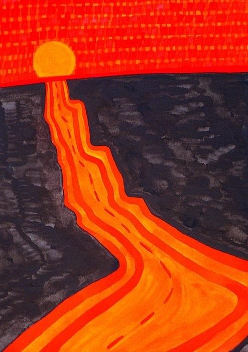 Sol Luckman - Road Trip original painti... Print