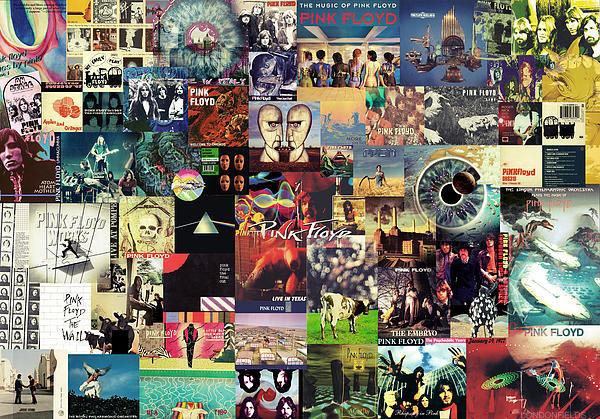 Taylan Soyturk - Pink Floyd Collage II Print