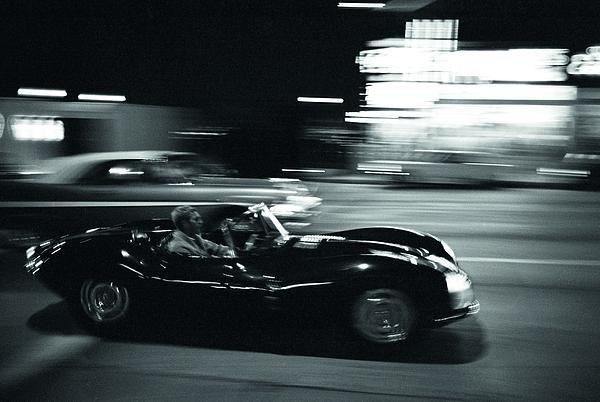 Nomad Art And  Design - Steve McQueen Jaguar XK-S... Print