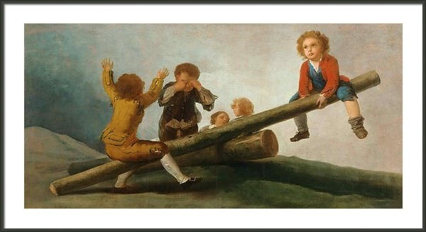 Francisco Jose de Goya y Lucientes - The Seesaw Print
