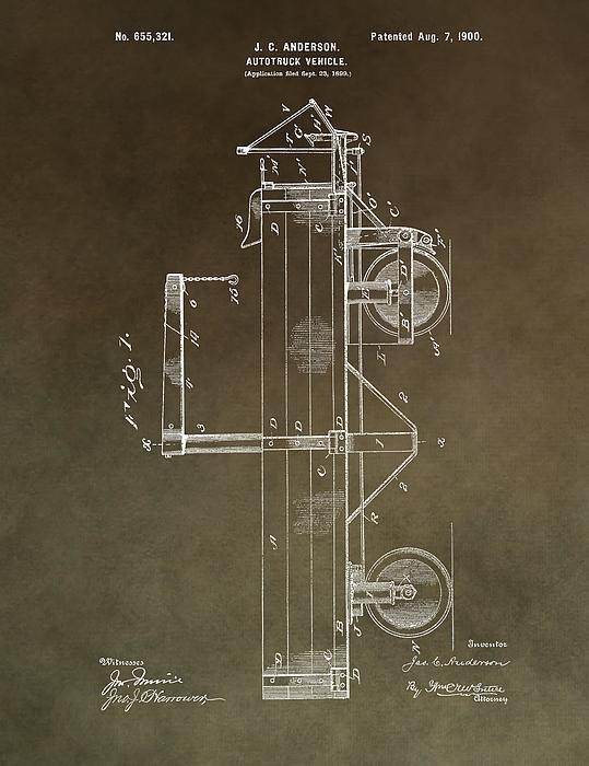 Dan Sproul - 1900 Truck Patent Print