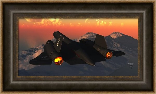 Steven Palmer - SR-71 Blackbird Print