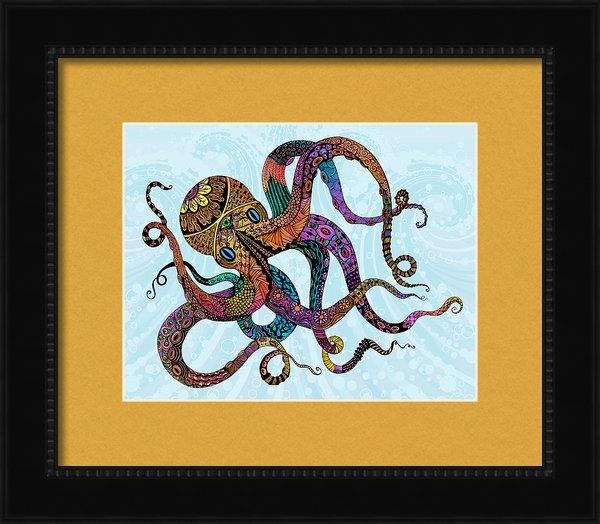Tammy Wetzel - Electric Octopus Print