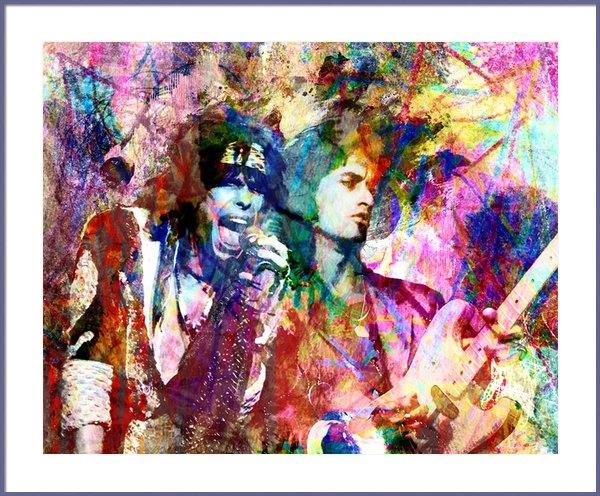 Ryan RockChromatic - Aerosmith Original Painti... Print