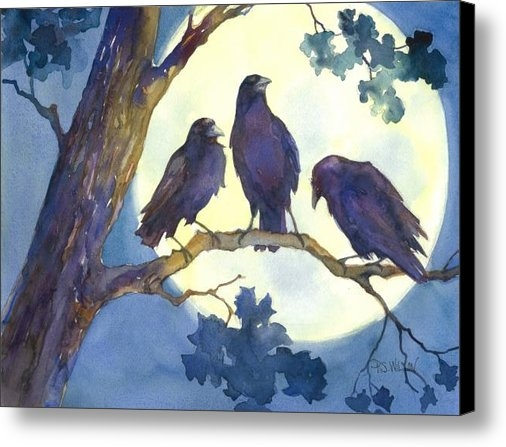 Peggy Wilson - Crows in Moonlight Print