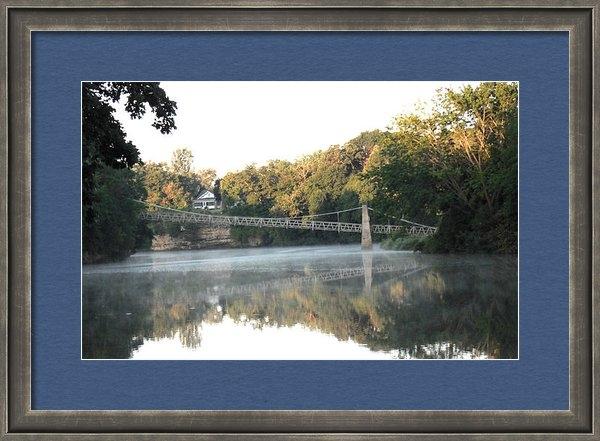 Jon Baldwin  Art - Iowa Falls Swinging Bridg... Print