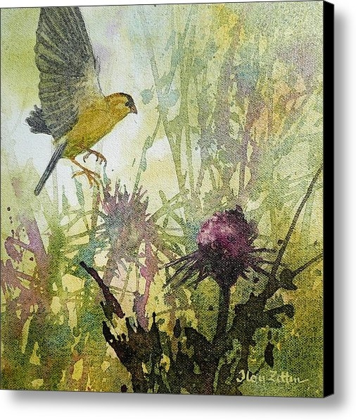 Floy Zittin - Goldfinch and Thistle Print
