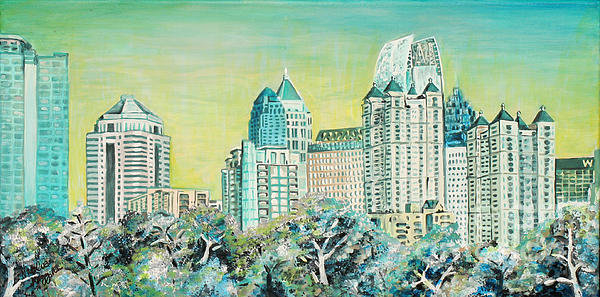 Natalie Huggins - City in the Trees Print