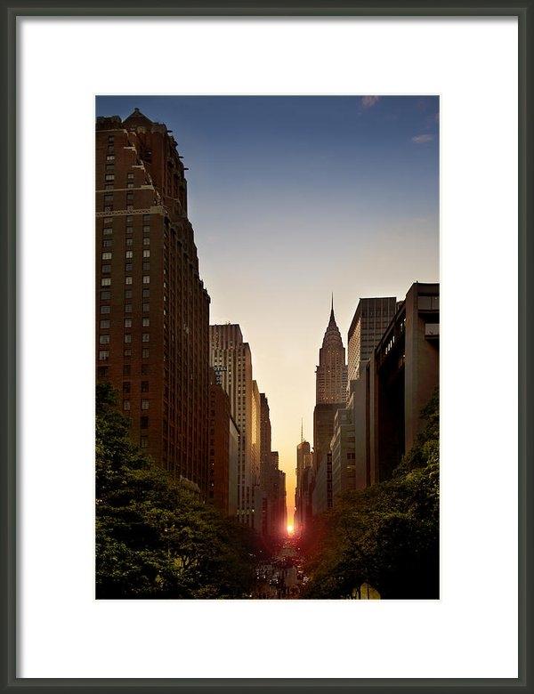 Jonathan Steele - Manhattanhenge - wide ang... Print
