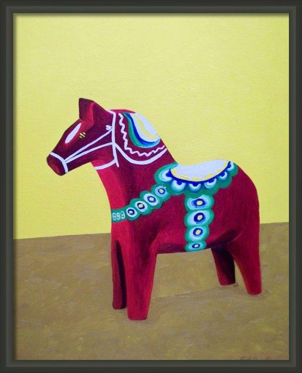 Stella  Pinilla - Dala Horse For Marlene Print