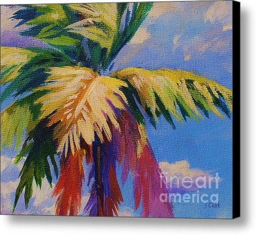 John Clark - Colorful Palm Print