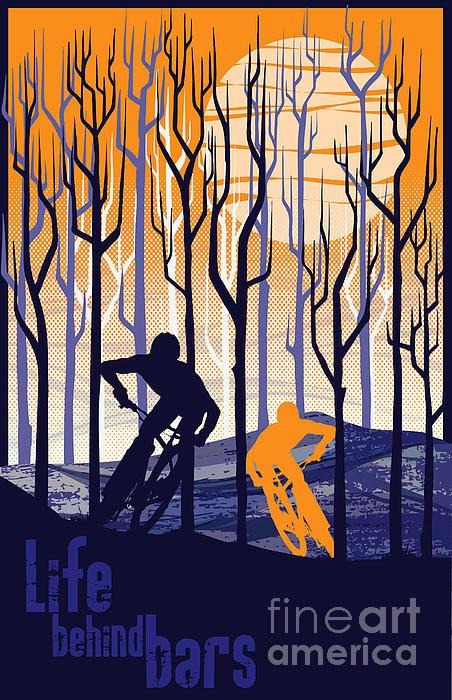 Sassan Filsoof - Retro Mountain Bike Poste... Print