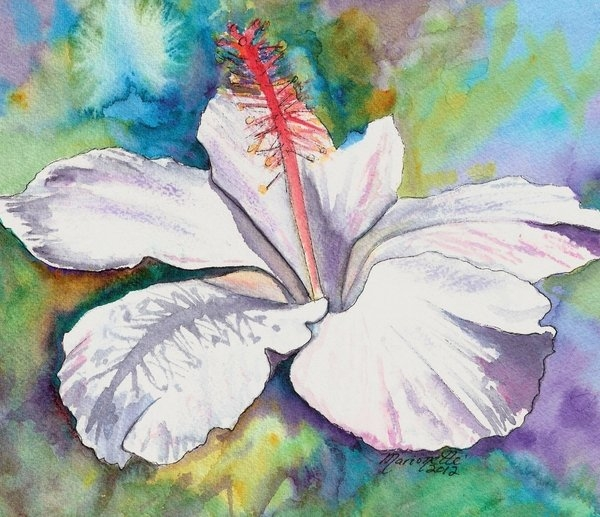 Marionette Taboniar - White Hibiscus Waimeae Print