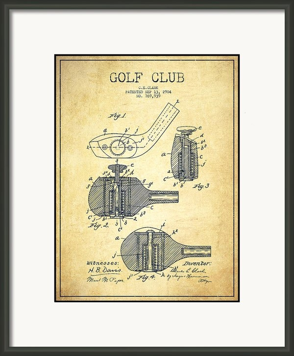 Aged Pixel - Golf Clubs Patent Drawing... Print