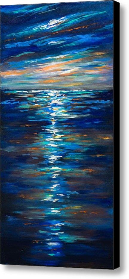 Linda Olsen - Dusk on the ocean Print