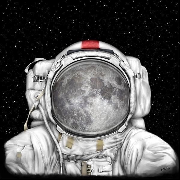 Tharsis  Artworks - Astronaut Moon Print