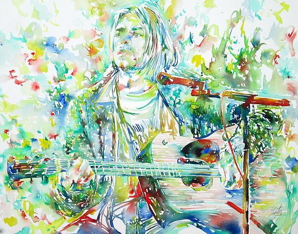Fabrizio Cassetta - KURT COBAIN playing the g... Print