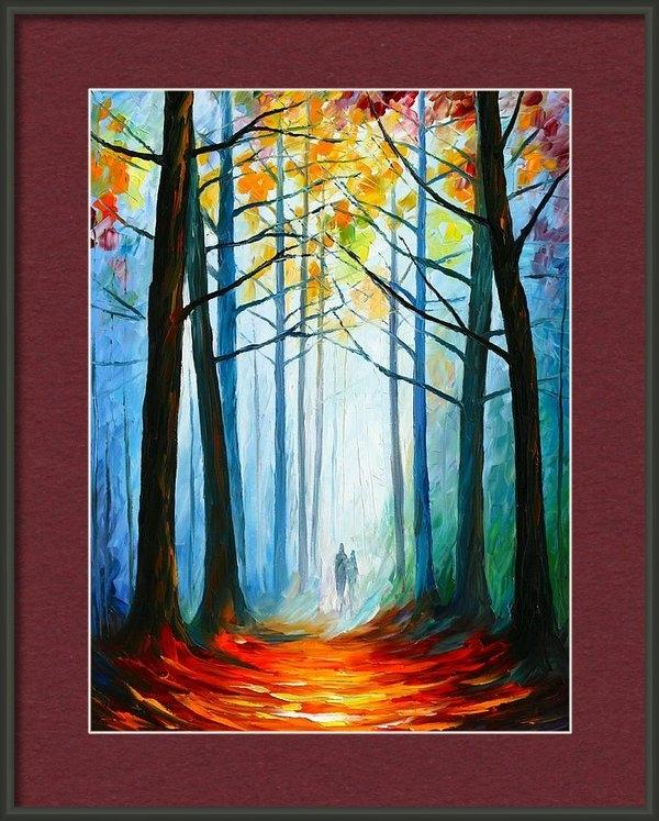 Leonid Afremov - Wise Forest Print
