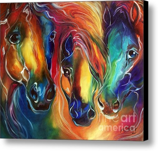 Marcia Baldwin - Color My World With Horse... Print