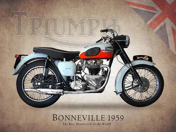 Mark Rogan - Triumph Bonneville 1959 Print