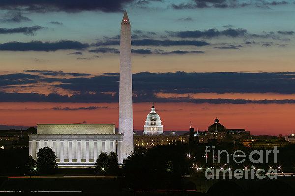 Clarence Holmes - Washington DC Landmarks a... Print