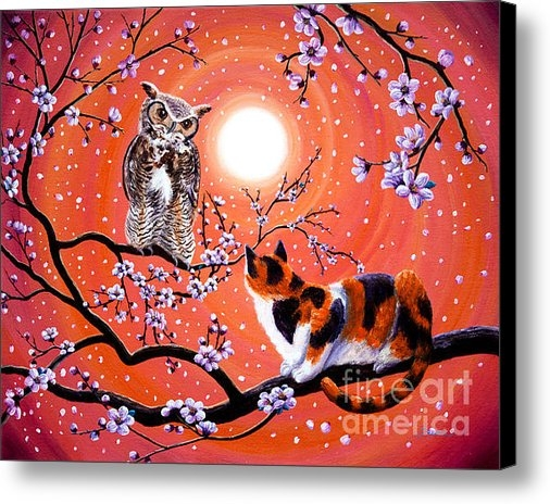Laura Iverson - The Owl and the Pussycat ... Print