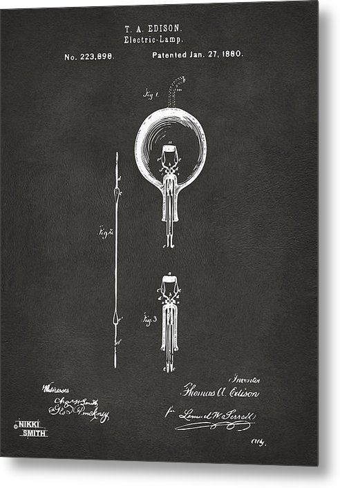 Nikki Marie Smith - 1880 Edison Electric Lamp... Print