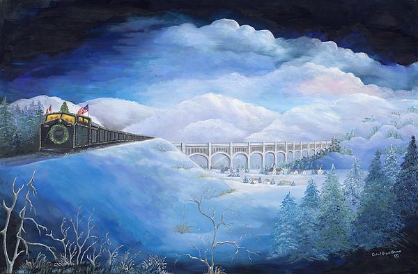 Carol Angela Brown - Holiday Train Print