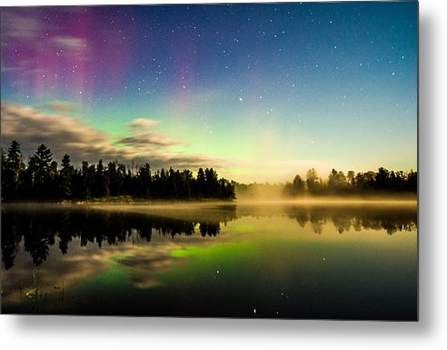 Christopher Broste - Northern Lights in the BW... Print