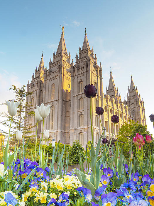 Emily Dickey - Spring at Temple Square Print