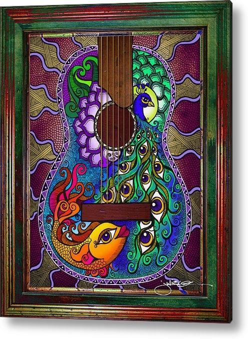 Julie Oakes - Peacock - Fish Guitar Print