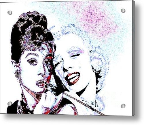 Wingsdomain Art and Photography - Hepburn and Monroe 201303... Print