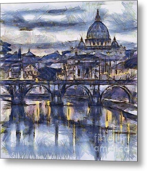 Sophie McAulay - Rome and the river tiber ... Print