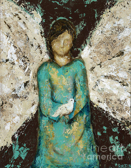 Kirsten Reed - Angel  and  Dove Print
