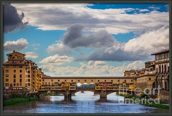 Inge Johnsson - Ponte Vecchio Clouds Print