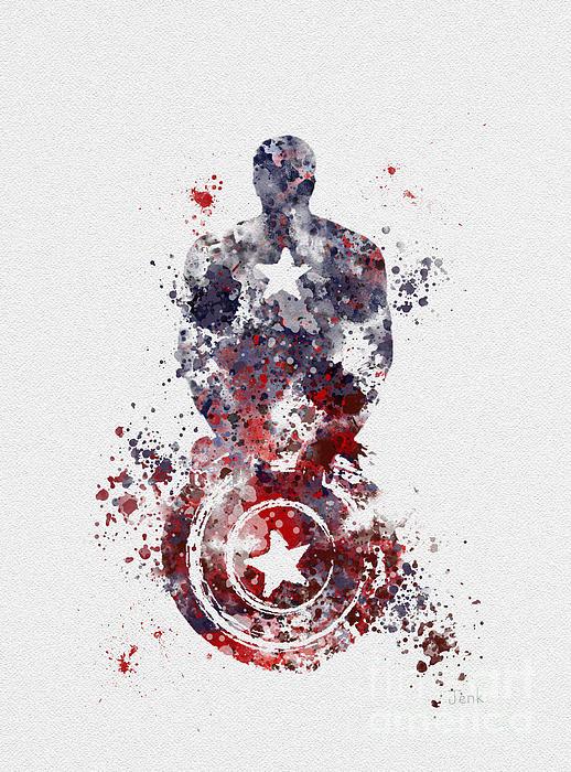 Rebecca Jenkins - Captain America Print
