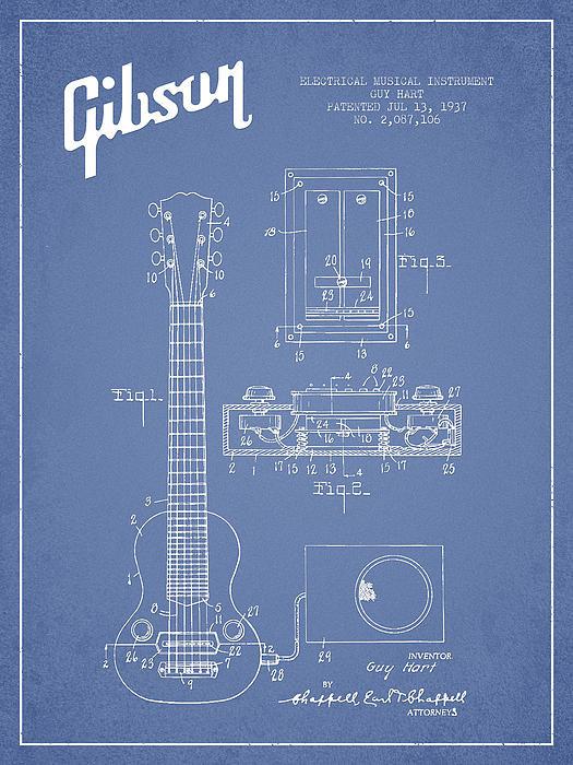Aged Pixel - Hart Gibson electrical mu... Print