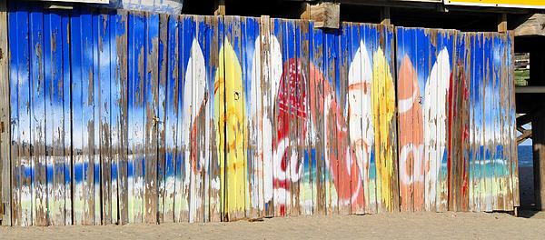 David Lee Thompson - Coca Cola surfboard sign Print