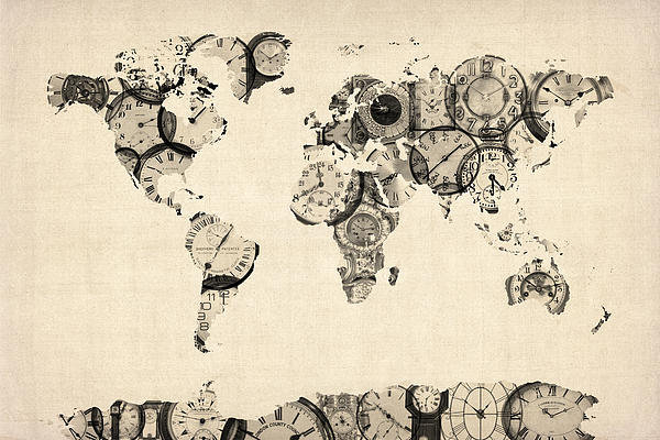 Michael Tompsett - Map of the World Map from... Print
